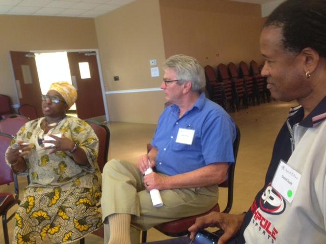 Inaugural Civic Reflection Dialogue Training - Abegunde, John Meyer, & David Scott